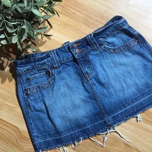 Vintage Jordache Denim Cut Off Skirt Size 3/4